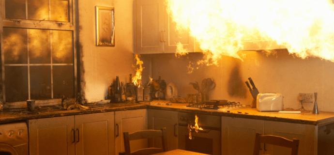 Кухня горит