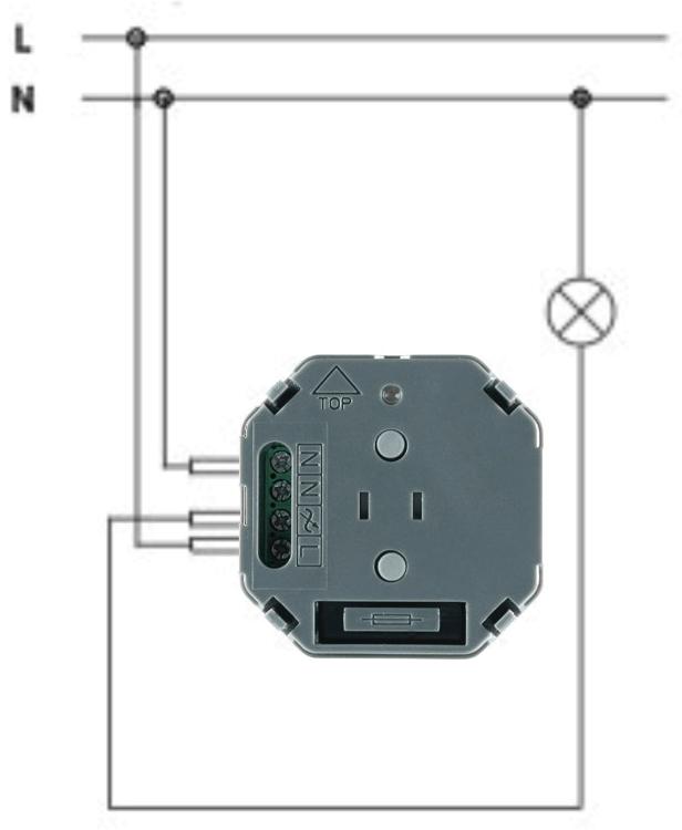 Схема подключения выключателя FMSW