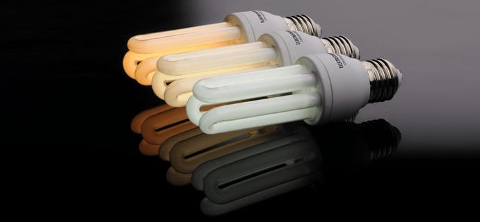 Свет ламп с цветовой температурой 2700К (теплая), 4200К (дневная), 6500К (холодная)