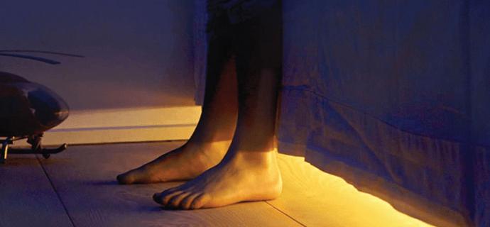 Ночная подсветка под кроватью