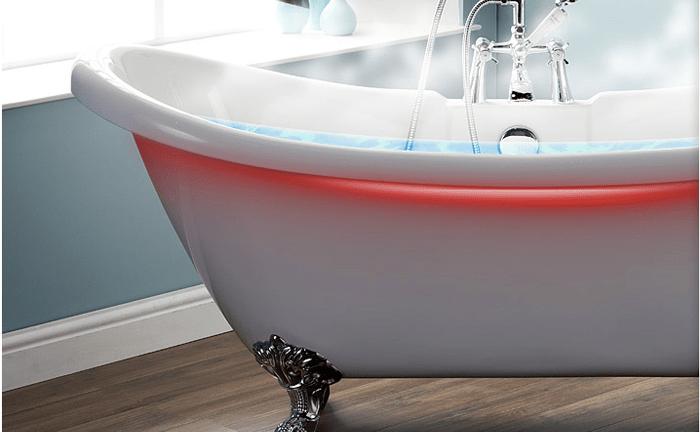 Подсветка ванны светодиодной RGB-лентой с датчиком температуры